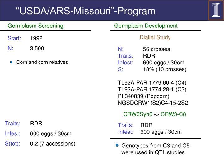 """""""USDA/ARS-Missouri""""-Program"""