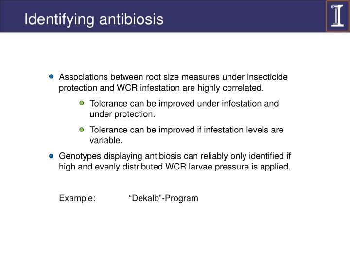 Identifying antibiosis