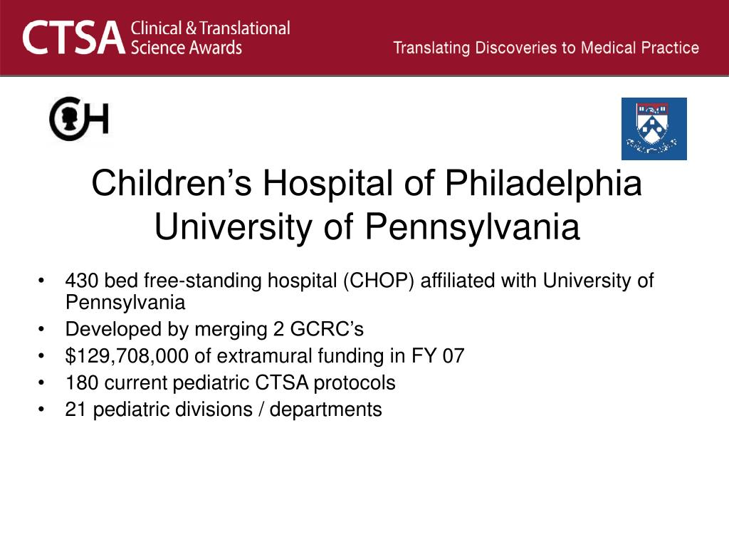 PPT - Pediatrics Oversight Committee CTSA Informal Introductions