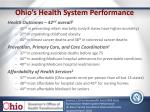 ohio s health system performance