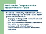 pan canadian competencies for health promoters draft4