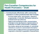 pan canadian competencies for health promoters draft6