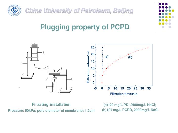 Plugging property of PCPD