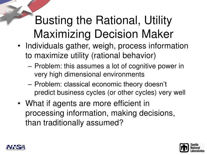 Busting the Rational, Utility Maximizing Decision Maker