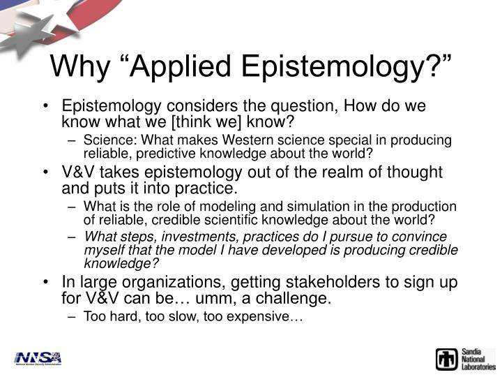 Why applied epistemology