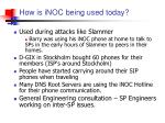 how is inoc being used today