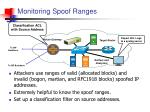 monitoring spoof ranges