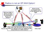radius is not an sp aaa option
