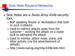 sink hole routers networks