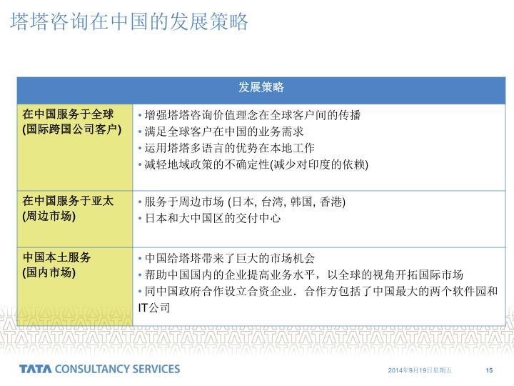 塔塔咨询在中国的发展策略