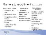 barriers to recruitment spaar et al 2009