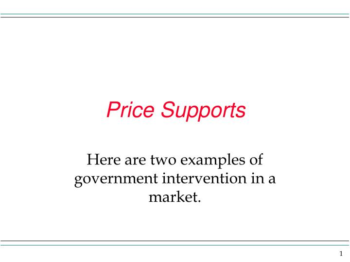 price supports n.
