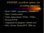 panyed excellent option for avoiding surgeries