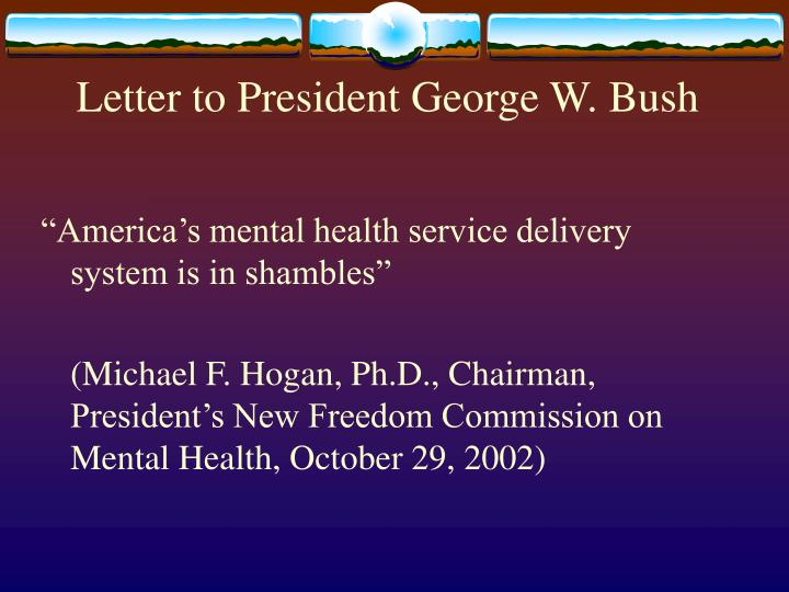 Letter to president george w bush