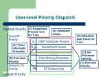 user level priority dispatch