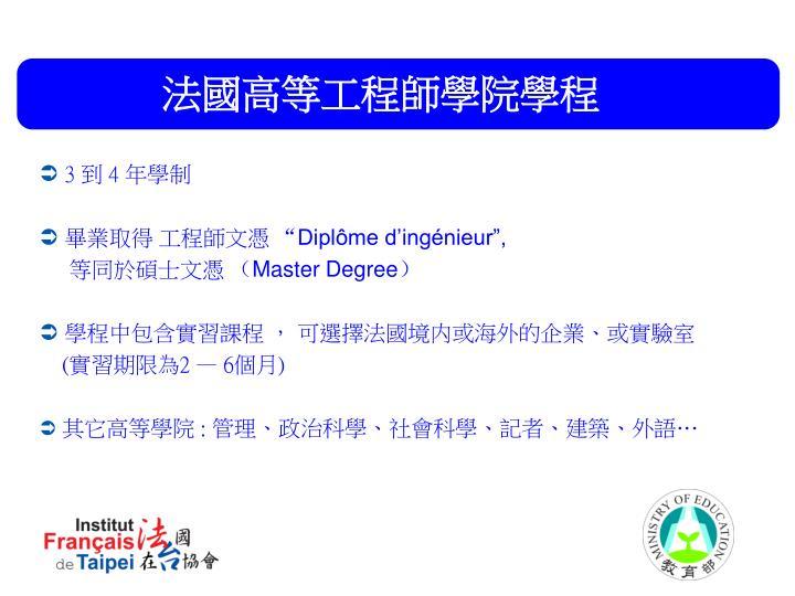 法國高等工程師學院學程