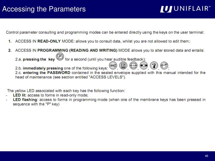 Accessing the Parameters
