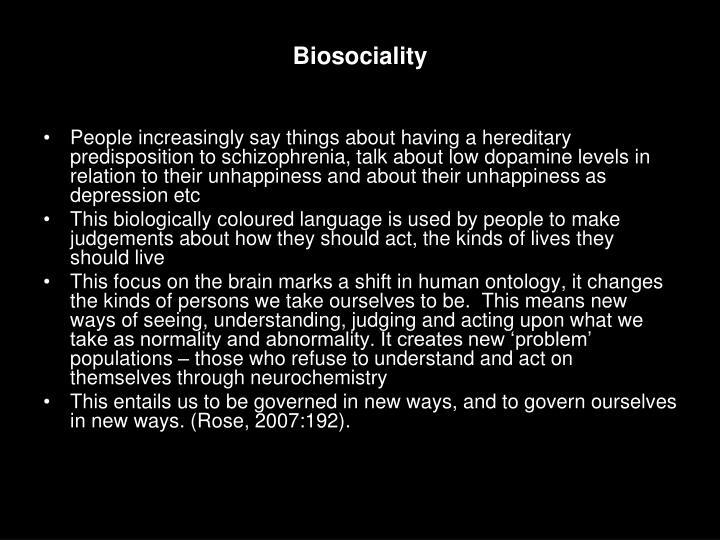 Biosociality
