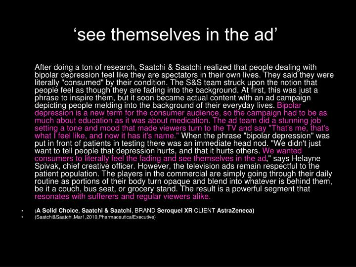 'see themselves in the ad'