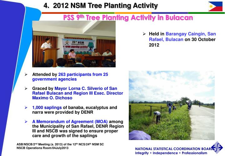 4.  2012 NSM Tree Planting Activity
