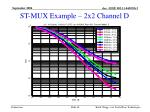st mux example 2x2 channel d