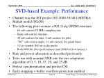 svd based example performance