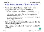 svd based example rate allocation