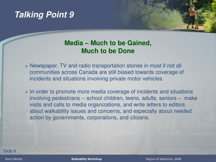 Newspaper, TV and radio transportation stories in most if not all