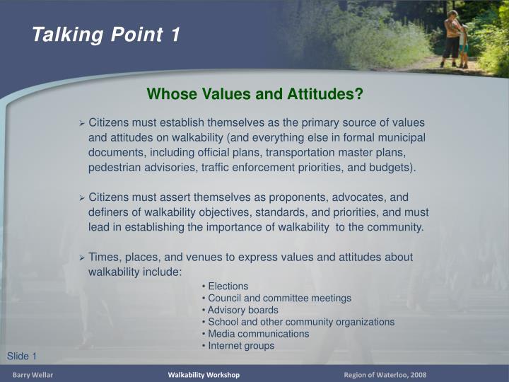 Talking point 1
