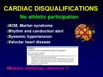 cardiac disqualifications