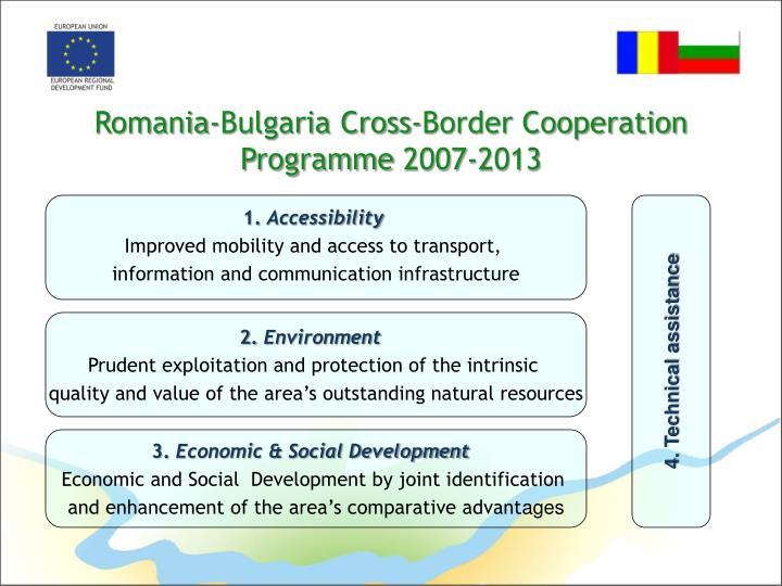 Romania bulgaria cross border cooperation programme 2007 20131