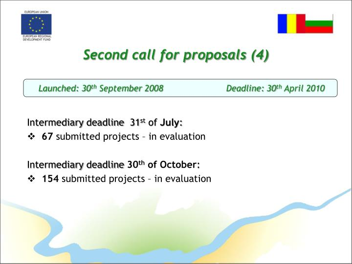 Second call for proposals