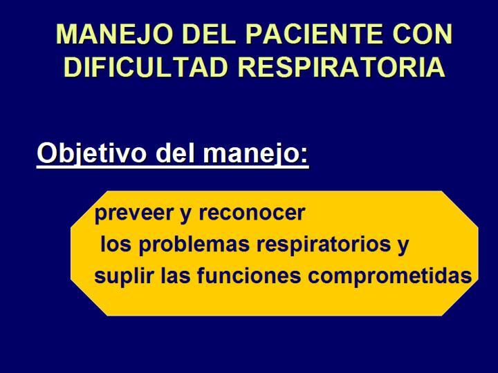 MANEJO DEL PACIENTE CON DIFICULTAD RESPIRATORIA