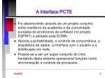 a interface pcte