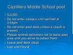 castillero middle school pool