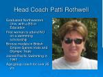 head coach patti rothwell