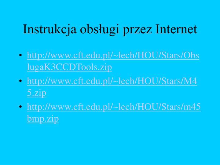 Instrukcja obsługi przez Internet
