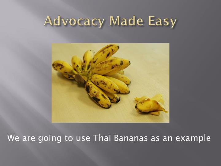 Advocacy made easy1