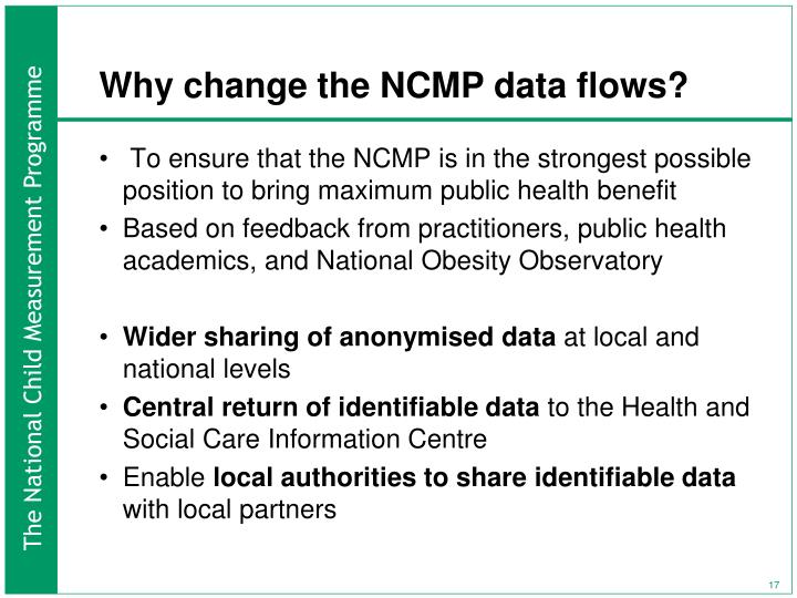 Why change the NCMP data flows?