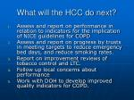 what will the hcc do next