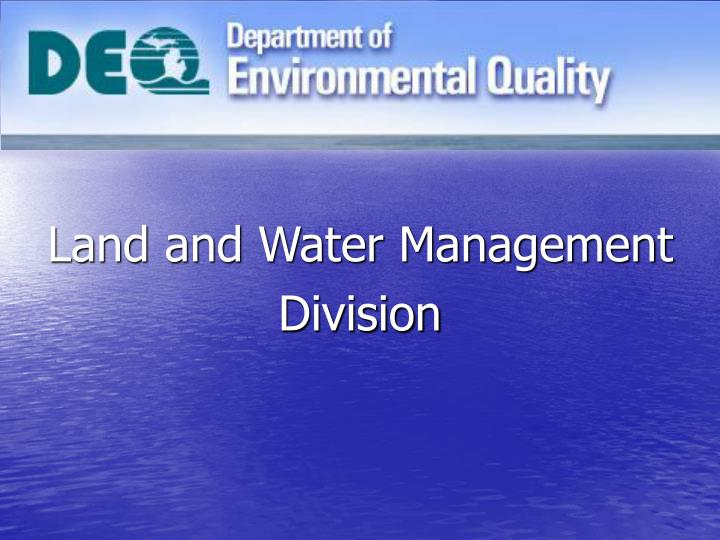 land and water management division n.