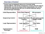 overview of control