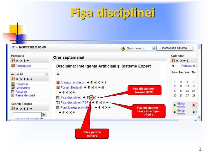 Fi a disciplinei1