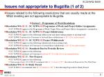 issues not appropriate to bugzilla 1 of 2