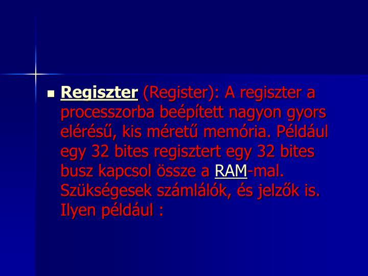 Regiszter