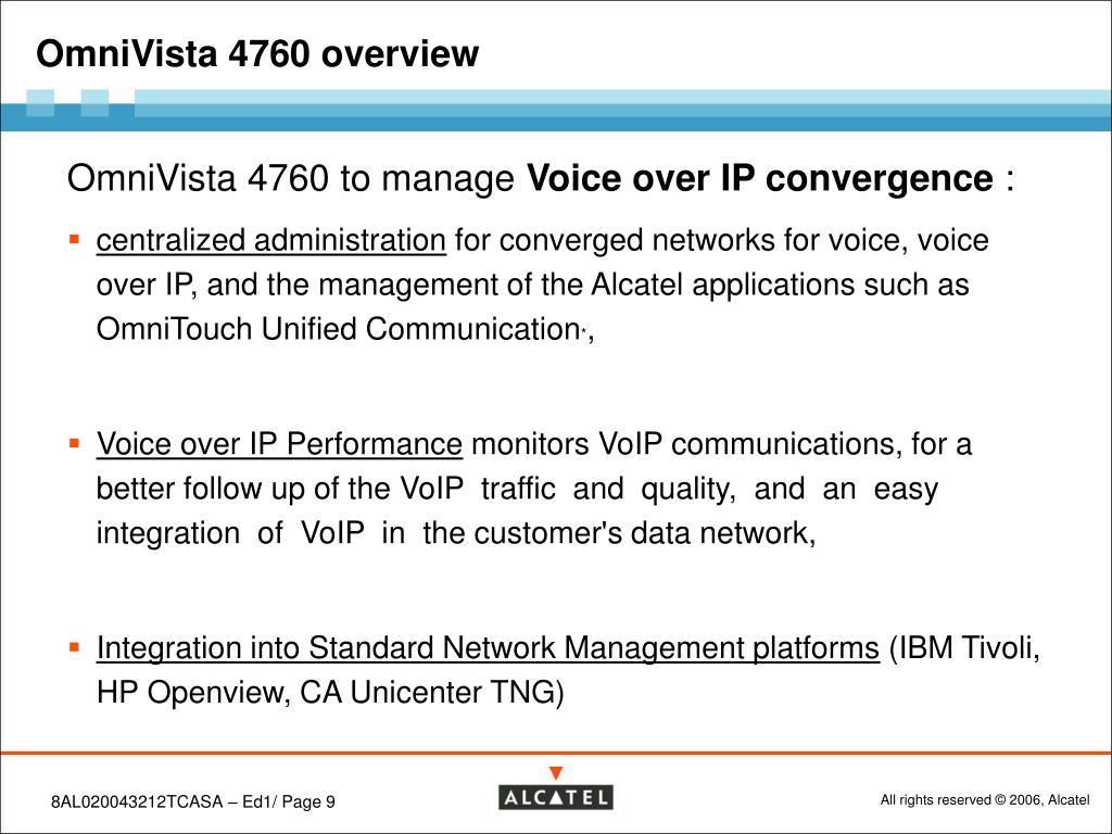 PPT - Alcatel OmniVista 4760 R4 1 Product presentation