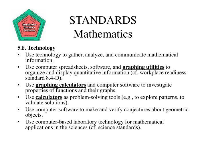 Standards mathematics