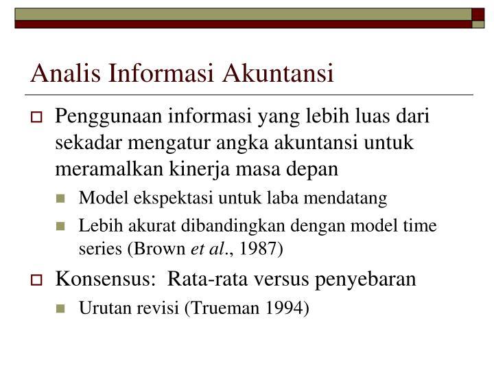 Analis Informasi Akuntansi
