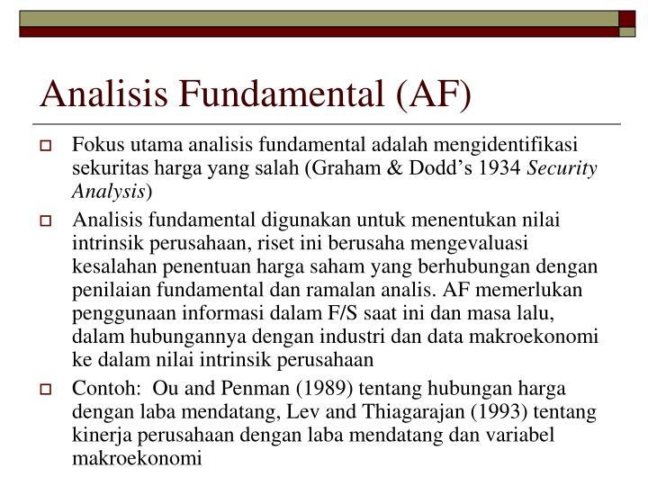 Analisis Fundamental (AF)
