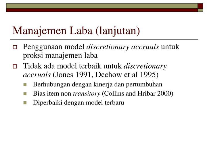 Manajemen Laba (lanjutan)